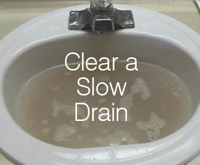 Clear a Slow Drain